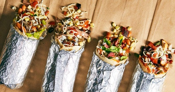 Chipotle Mexican Grill burritos