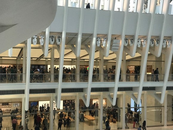 The Apple World Trade Center store on Friday morning.