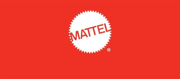 The Mattel logo on a red background.