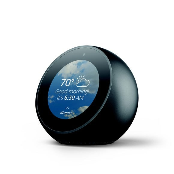 Rendering of Echo Spot on white background