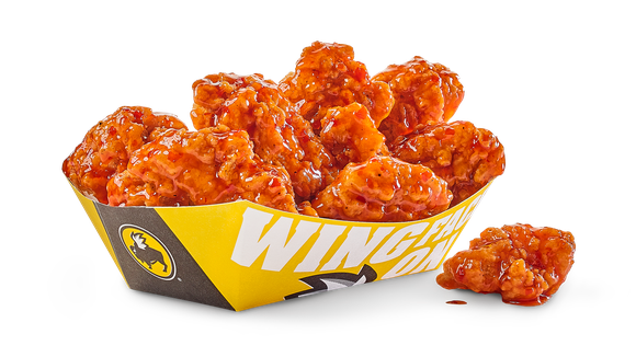 A tray of Buffalo Wild Wings' boneless wings