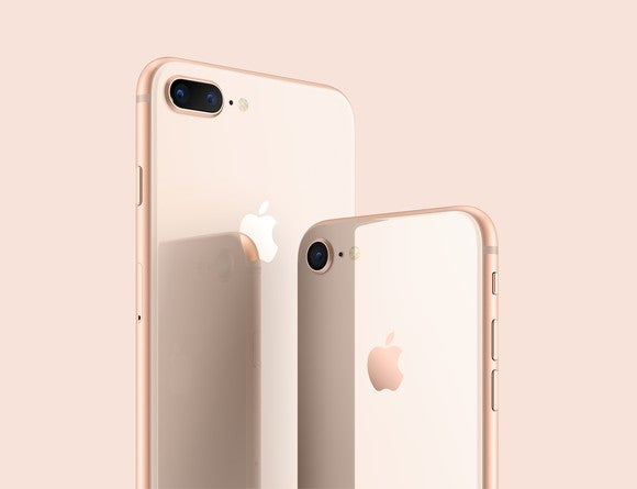The backs of the iPhone 8 and iPhone 8 Plus.