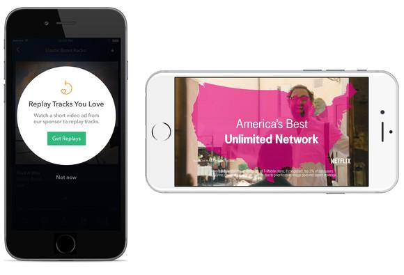 Pandora video plus advertising screenshot