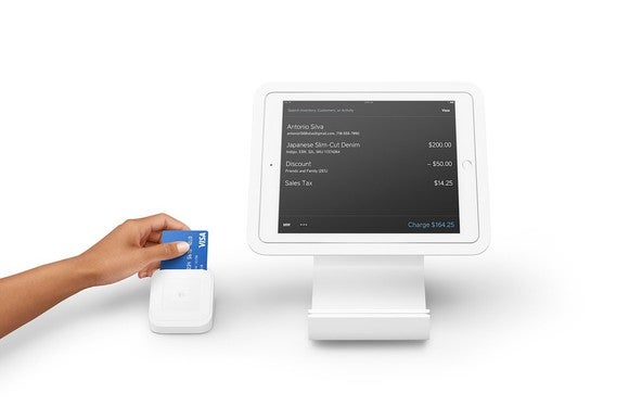 Square card reader payment processor