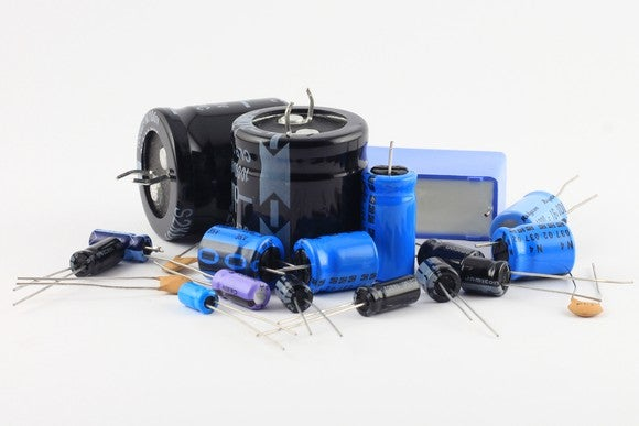 Pile of capacitors