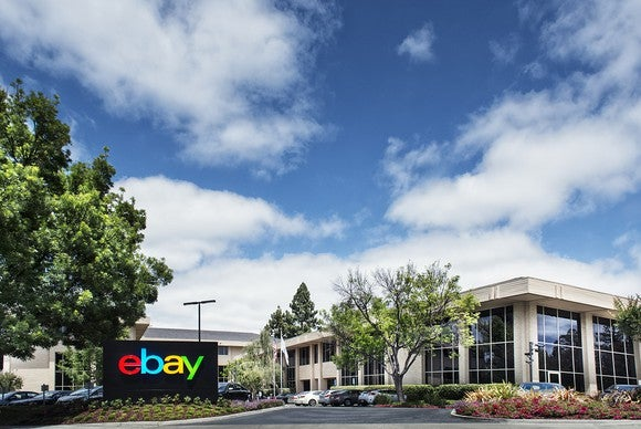 The exterior of an eBay office building.
