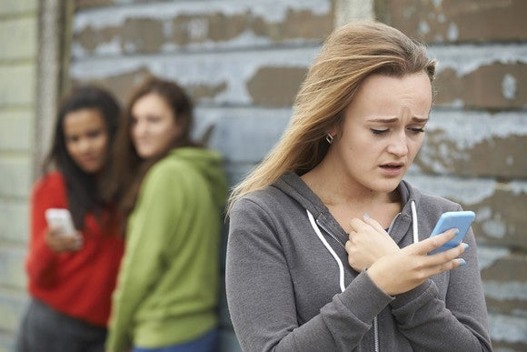 A teenage girl responds to being cyber-bullied.