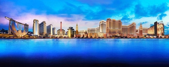 A panorama of Las Vegas Sands' properties.