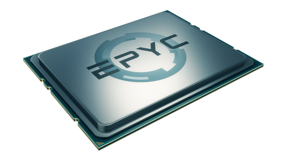 A rendering of an AMD EPYC server chip.