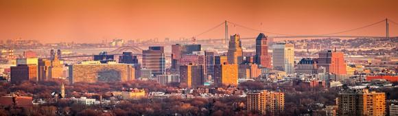 Newark skyline.