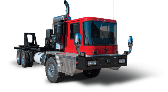 Drill rig vehicle from Spartan Motors.