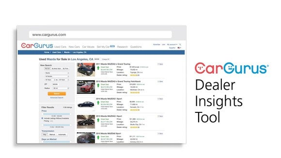 Screenshot of the CarGurus Dealer Insights Tool.