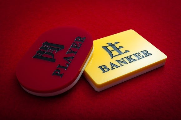Player and banker baccarat chips