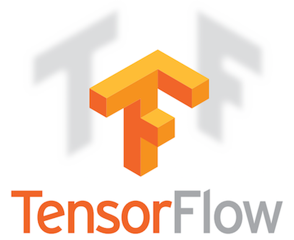 The logo for TensorFlow.