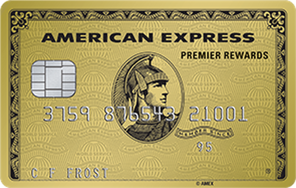 Picture of a gold American Express card.