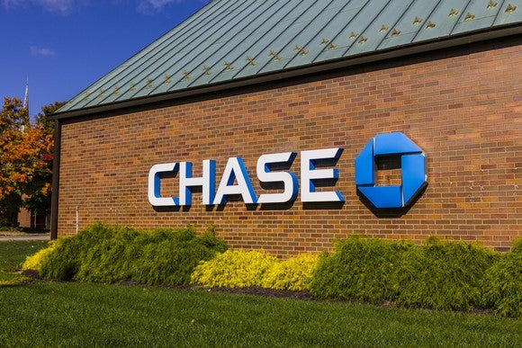 The sign outside a JPMorgan Chase branch.