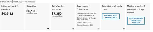Sample Obamacare Plan