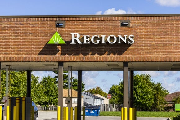 A Regions Financial drive-thru in Indianapolis, Ind.