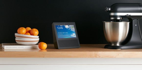 Echo Show on a kitchen counter