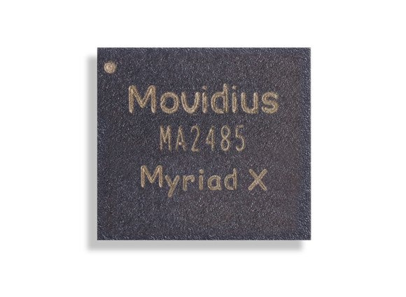 The Movidius Myriad X chip.