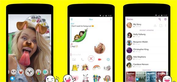 Snapchat's mobile app.