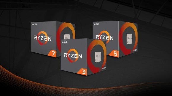Boxes of AMD's Ryzen processors.
