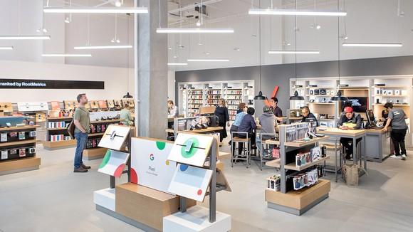 Interior of a Verizon store in San Francisco.