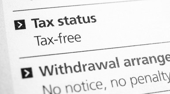A document with tax status details printed on it.
