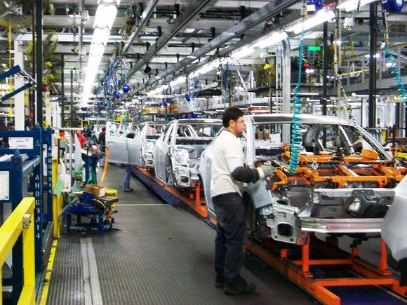 The assembly line at GM's Lordstown Complex, in Lordstown, Ohio.