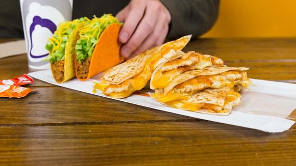 Taco Bell chicken quesadilla box