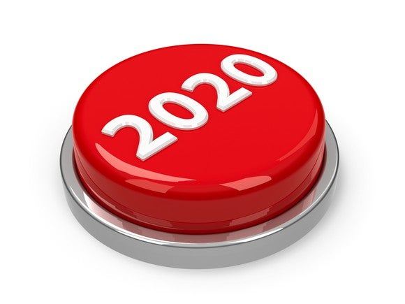 Red button with 2020 on it