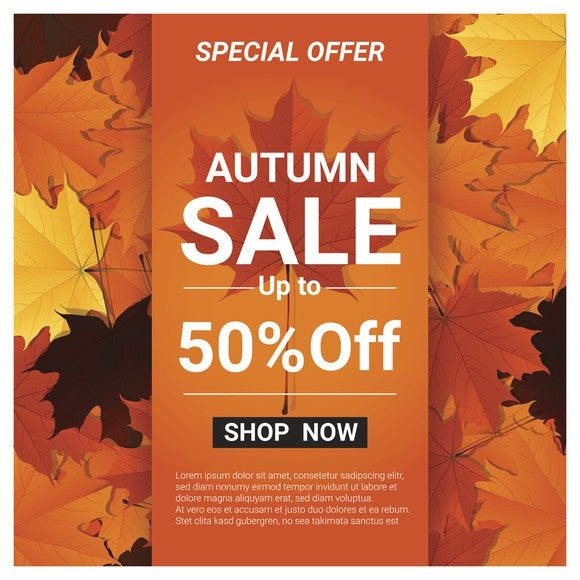 """Autumn sale"" flyer"