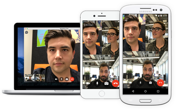 Group videos in Facebook's Workplace Chat on desktop and mobile