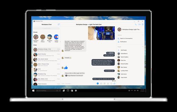 Workplace desktop app on a Windows laptop