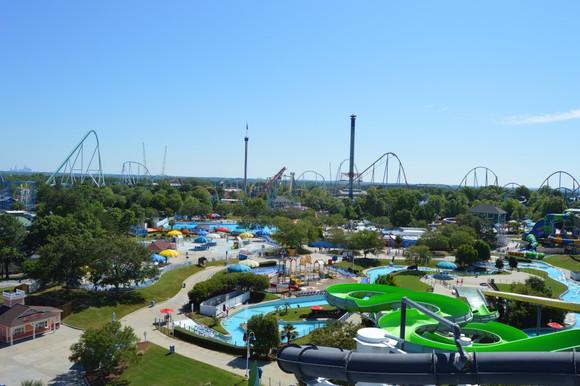 Skyline at Carowinds amusement park in North Carolina.