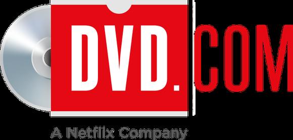 DVD.com logo, including A Netflix Company as a tagline.