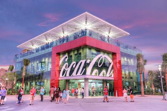 Exterior of a Coca-Cola store.