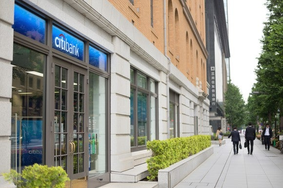 The exterior of a Citigroup branch.