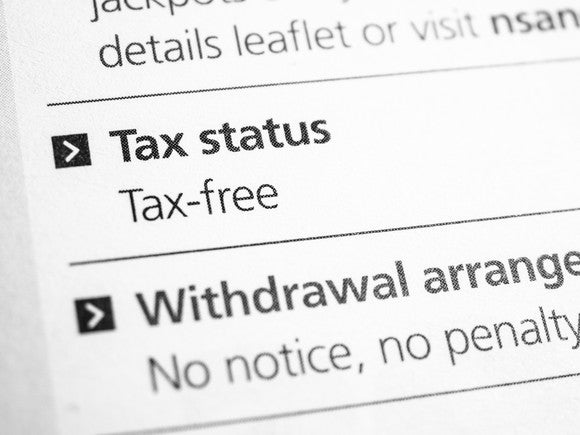 A piece of paper signifying a tax-free status.