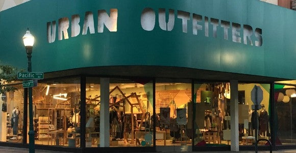 Urban Outfitters storefront.