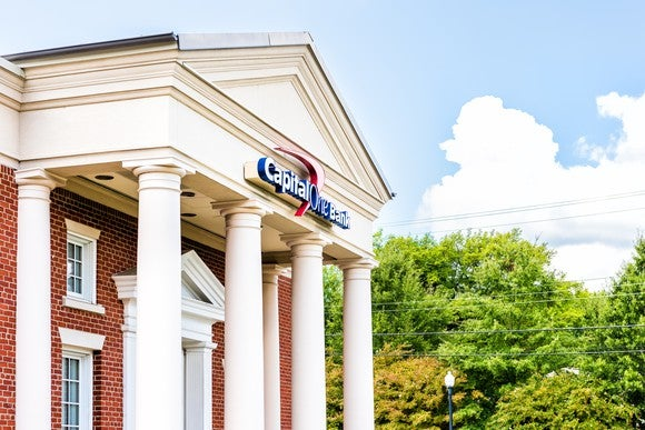 The exterior of a Capital One branch