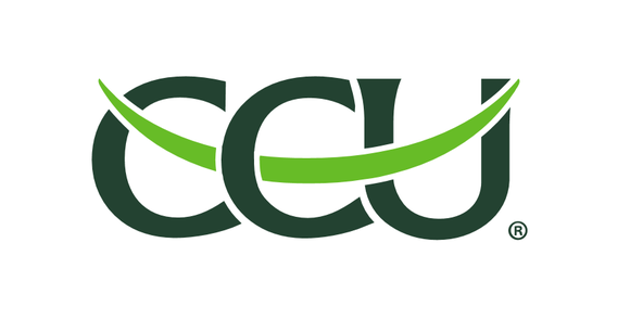 CCU logo with dark and light green lettering.