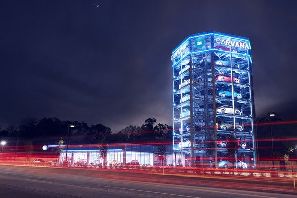 Carvana's car vending machine concept