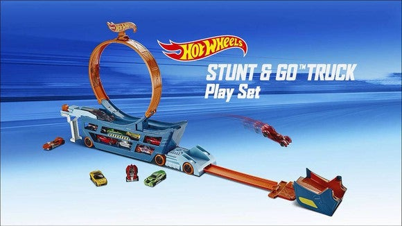 Hot Wheels Stunt & Go Truck play set.