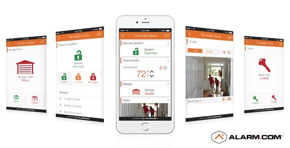 The Alarm.com smartphone app.