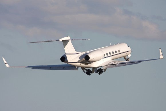 Gulfstream business jet