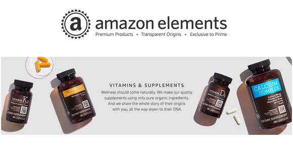 Amazon Elements vitamins and supplements