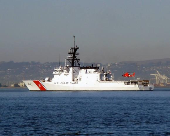 U.S. Coast Guard Cutter Bertholf at port