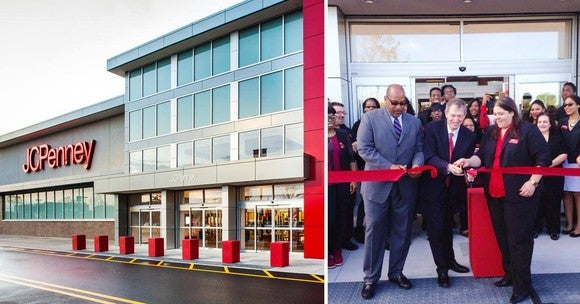 Shots from a grand opening of a new JCPenney store.