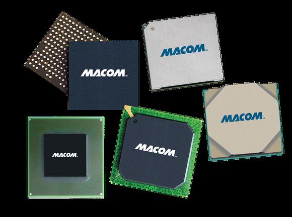 Six MACOM networking chips.